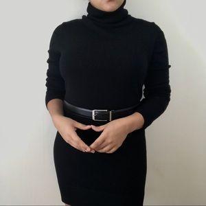 Black Bisou Bisou Turtleneck Dress